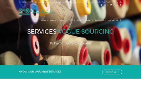 Screenshot of Services Page voguesourcing.com - Services |Apparel,Garment,Clothing Production,Exporters| Vogue Sourcing - captured May 10, 2017