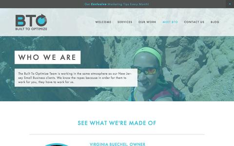 Screenshot of About Page builttooptimize.com - Who We Are Ń Built To Optimize - captured Jan. 7, 2016