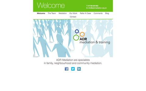 Screenshot of Home Page adrmediation.org.uk captured Oct. 4, 2014