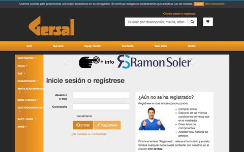 Screenshot of Login Page gersal.com - Inicie sesión o regístrese -  Gersal web - captured July 9, 2017