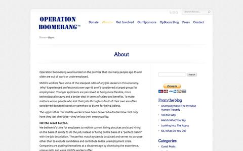 Screenshot of About Page opboom.org - About | Operation Boomerang - captured Oct. 7, 2014