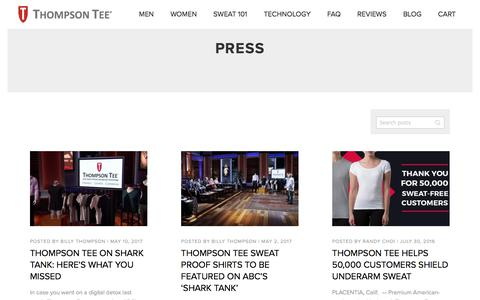 Press Archives  - Thompson Tee Blog