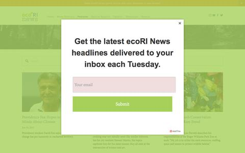 Screenshot of Testimonials Page ecori.org - eco People —  ecoRI News - captured Sept. 20, 2017