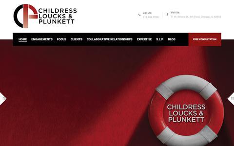 Screenshot of Home Page childresslawyers.com - Your Insurance Against Insurance | Childress Loucks & Plunkett - captured Sept. 27, 2018