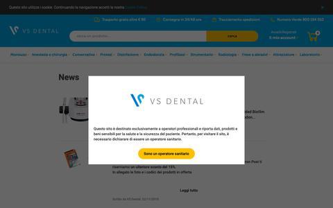 Screenshot of Press Page vsdental.it - News - VS Dental | l'e-commerce delle promozioni dentali#} - captured Dec. 20, 2018