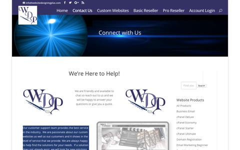 Contact us for quotes on custom website designs