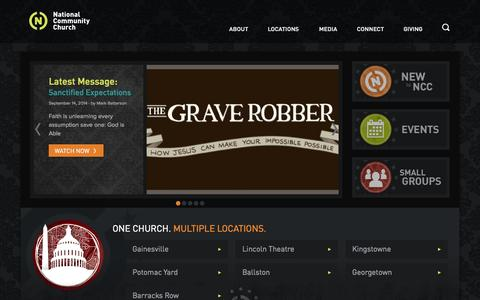 Screenshot of Home Page theaterchurch.com - Theaterchurch - captured Sept. 19, 2014