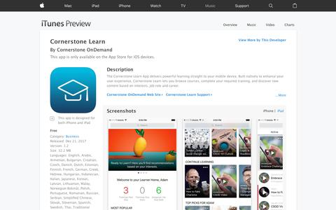 Cornerstone Learn on the App Store