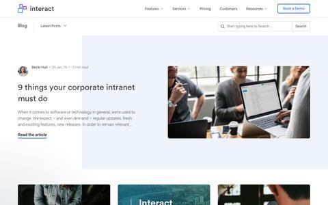 Screenshot of Blog interact-intranet.com - Scott says… - captured May 24, 2019