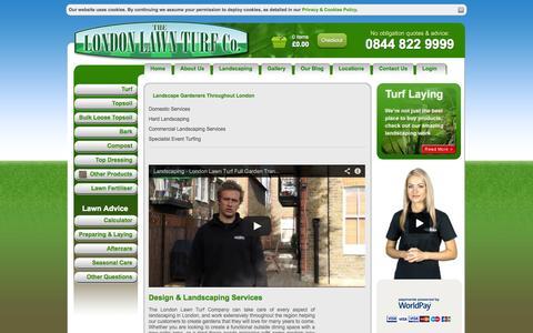 Screenshot of Services Page londonlawnturf.co.uk - London Lawn Turf -  Landscaping Services & Turf Laying London - captured Sept. 30, 2014