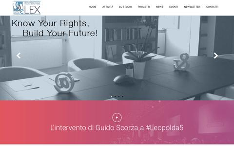 Screenshot of Home Page e-lex.it - Home - E-LEX Studio legale - captured Jan. 23, 2015