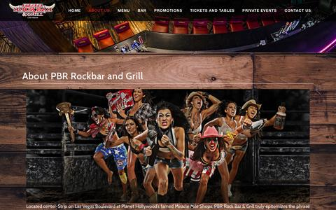 Screenshot of About Page pbrrockbar.com - About Us  | PBR Rockbar and Grill on the Las Vegas Strip - captured March 5, 2016