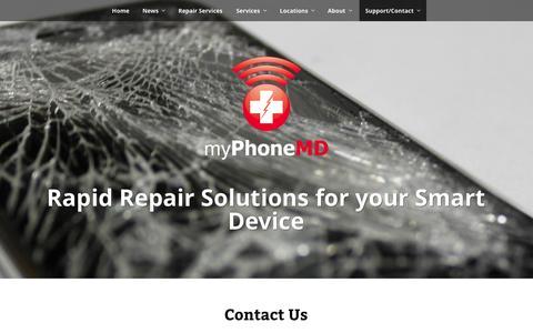 Screenshot of Contact Page myphonemd.net - Contact Us   myPhoneMD - captured Oct. 28, 2014