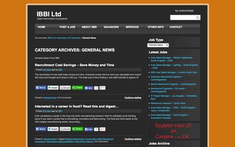 Screenshot of Press Page ibbi-ltd.co.uk - General News-IBBI LtdIBBI Ltd - captured Sept. 30, 2014