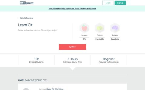 Learn Git | Codecademy