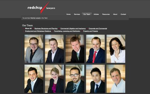Screenshot of Team Page redchip.com.au - Our Team - captured Oct. 7, 2014