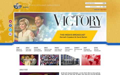 Screenshot of About Page kcm.org.uk - About KCM   KCM Europe – Kenneth Copeland Ministries Europe - captured Nov. 3, 2014