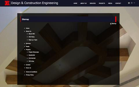 Screenshot of Site Map Page dec.ae - Design & Construction Engineering - Sitemap - captured Oct. 5, 2014