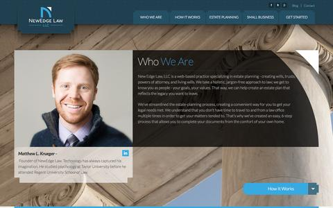 Screenshot of Home Page newedgelaw.com - New Edge Law LLC - captured Oct. 6, 2014