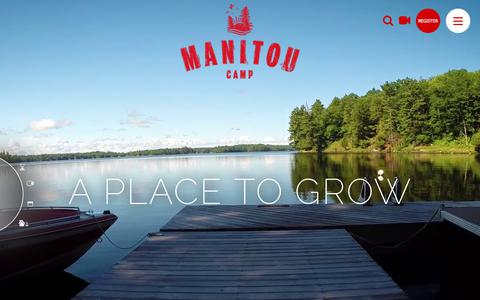 Screenshot of Home Page manitoucamp.com - Home | Camp Manitou - captured May 15, 2018
