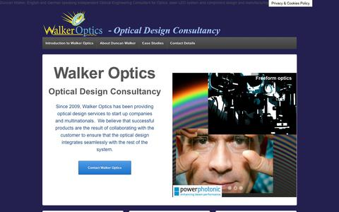Screenshot of Home Page walker-optics.com - Walker Optics - Optical Laser & LED Consultants for system and component design - captured Nov. 10, 2017