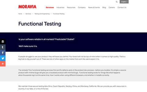 Functional Testing - Moravia