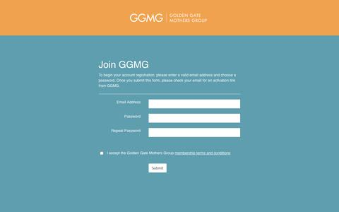 Screenshot of Signup Page ggmg.org - Join - GGMG - captured July 1, 2017