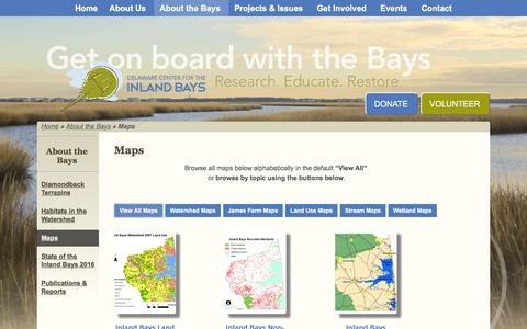 Screenshot of Maps & Directions Page inlandbays.org - Inland Bays Center - Delaware Center for the Inland Bays - captured Nov. 23, 2016