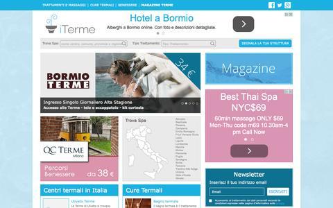 Screenshot of Home Page iterme.com - Elenco Terme, Spa e centri benessere. Offerte Terme - captured Sept. 22, 2015