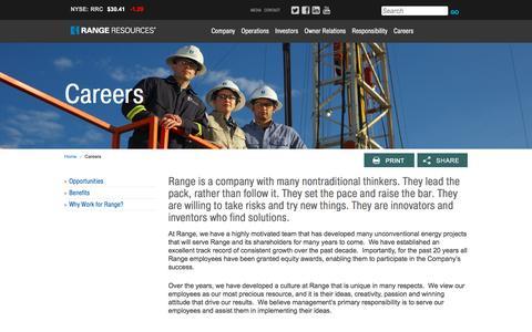 Screenshot of Jobs Page rangeresources.com - Range Resources - Careers - captured Nov. 21, 2015