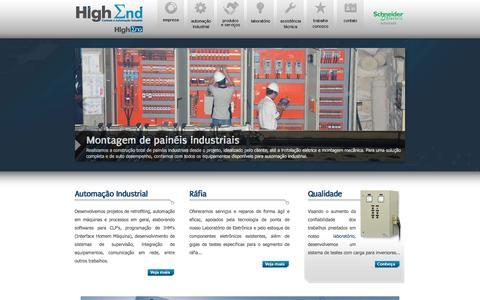 Screenshot of Home Page heautomacao.com.br - High End - Controle e Automação Industrial - captured Jan. 29, 2016