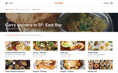 Curry delivery in SF: East Bay | Caviar