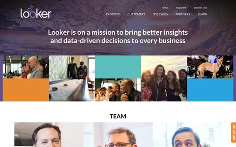 Screenshot of Team Page looker.com - Team | Looker | Looker Data Sciences - captured March 7, 2016