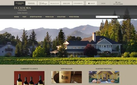 Screenshot of Home Page duckhorn.com - Napa Valley Premier Wines and Vineyards | Duckhorn Vineyards - captured Sept. 25, 2014