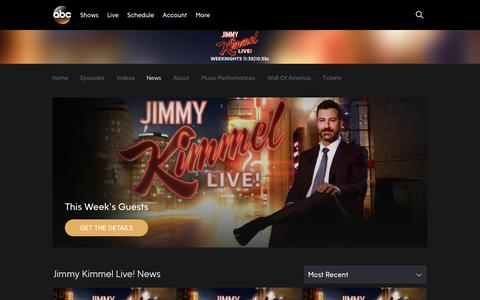 Screenshot of Press Page go.com - Jimmy Kimmel Live! | News & Blogs - captured July 5, 2018