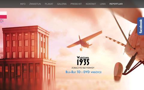 Screenshot of Home Page warszawa1935.pl - Warszawa 1935 r. - captured Oct. 10, 2015