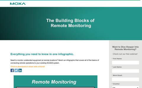 Screenshot of Landing Page moxa.com - The Building Blocks of Remote Monitoring - captured June 5, 2018