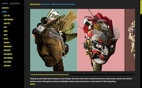 Screenshot of Press Page sharpeonline.com - Sharpe + Associates - News - captured Oct. 7, 2014