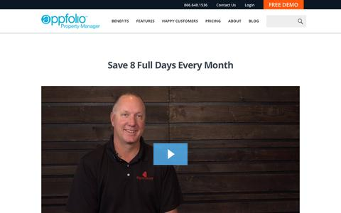 Screenshot of Case Studies Page appfolio.com - AppFolio Video Case Study for The Equity Group - captured May 10, 2017