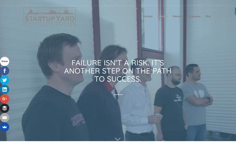 Screenshot of Team Page startupyard.com - Our Team - StartupYard - captured Sept. 21, 2018