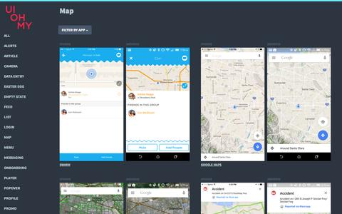 Screenshot of Maps & Directions Page uiohmy.com - UI OH MY - captured Nov. 20, 2015