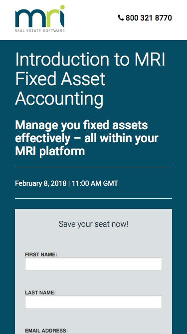 Introduction to MRI Fixed Asset Accounting