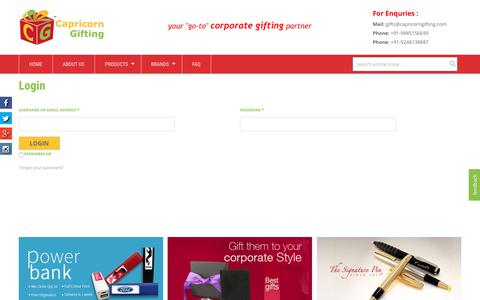 Screenshot of Signup Page Login Page capricorngifting.com - Capricorn Gifting | My Account - captured July 14, 2017