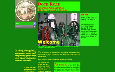 Screenshot of Home Page dockroad.org - Home - captured Oct. 9, 2015