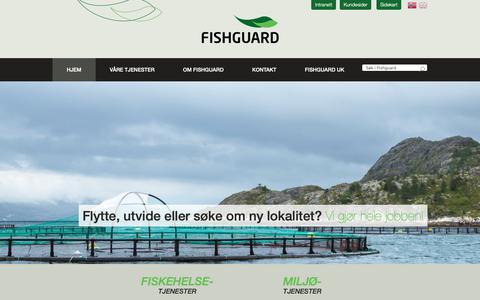 Screenshot of Home Page fishguard.no - Fishguard - Fiskehelsetjenester – Miljøtjenester - Laboratorietjenester - captured Oct. 10, 2018