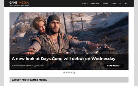 Screenshot of Press Page game.co.uk - Home - GAME | Media - captured Feb. 13, 2019