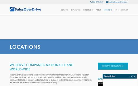 Screenshot of Locations Page salesoverdrive.com - Locations - Sales Overdrive - captured Oct. 4, 2017