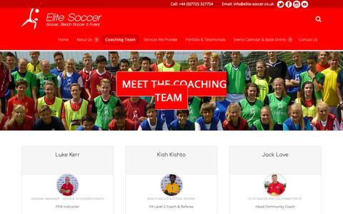 Screenshot of Team Page elite-soccer.co.uk - Team – Elite Soccer - captured Nov. 10, 2018