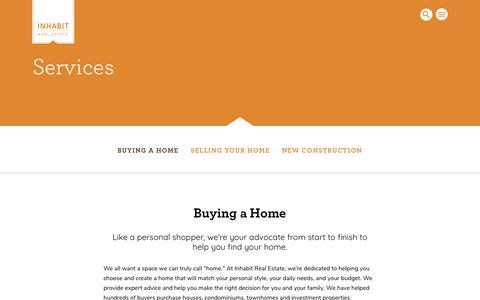 Screenshot of Services Page inhabitportland.com - Services – Inhabit Real Estate - captured Nov. 14, 2018