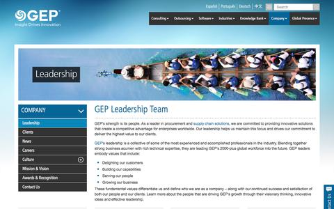 Leadership Team | GEP